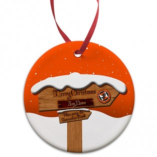 Ceramic Bauble - Christmas Sign