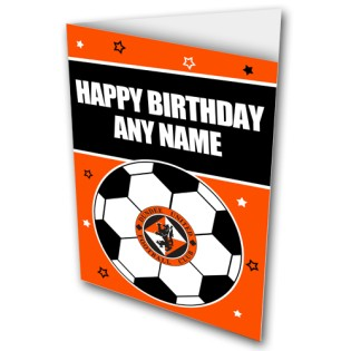 Greeting Card Happy Bday Football